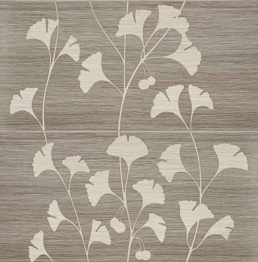 Biloba Grey - 2-element wall decoration