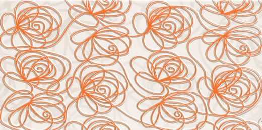 wave-modern-orange-wall-decorations